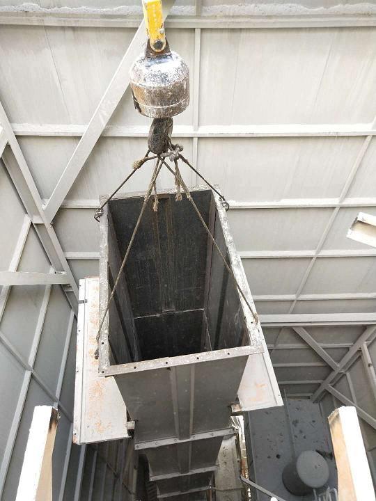 NE50斗式提升机在驻马店遂平县安装案例5